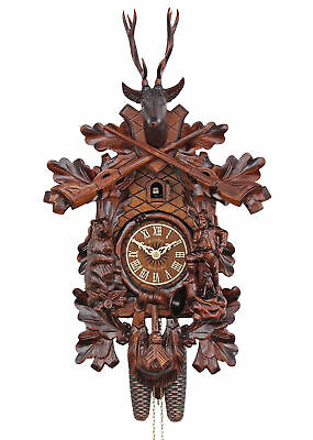 Adolf Herr Cuckoo Clock - The Bear Hunter (small) AH 374/1 8T NEW