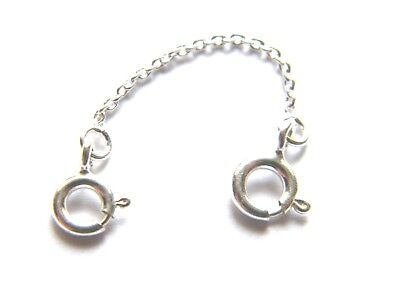 Sterling Silver Safety Extension Chain 4.5cm For Necklace Extender .925 Str.