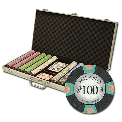 New 750 Milano 10g Clay Poker Chips Set with Aluminum Case - Pick Chips!