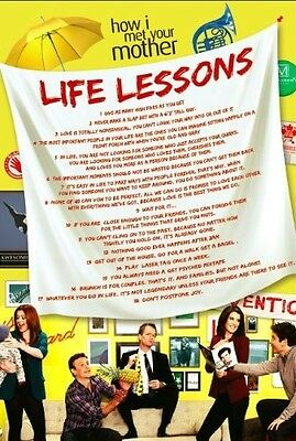 """Life Lessons Poster, inspired by How I Met Your Mother (36"""" x 24"""")"""