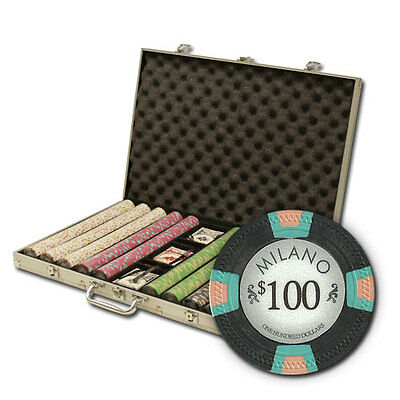 New 1000 Milano 10g Clay Poker Chips Set with Aluminum Case - Pick Chips!