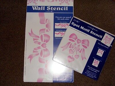 SWEETHEART  WALL AND SPOT MOTIF STENCILS  BY  PLAID STENCIL - DECOR   (REUSABLE)