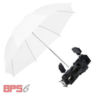 Photo Studio Soft Umbrella w/ Flash Shoe Holder Swivel Light Stand Bracket