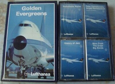 Old Vintage 4 packs of Audio Cassettes of Golden Evergreens Music's Gift Box fro