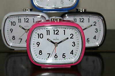 Acctim Elise Loud Bell Alarm Clock with Snooze and Light a Classic