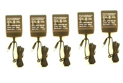 FIVE 5pc Class 2 Transformer Ac Adapter Outpt 9V 1000mA Model # D48W091000-02/1