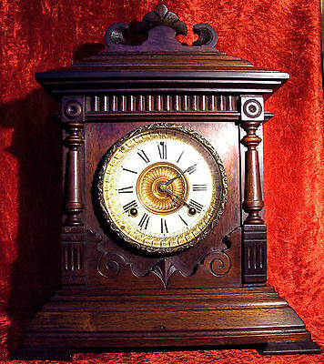 American Antique Ansonia Sharon Mantel Clock c.1894