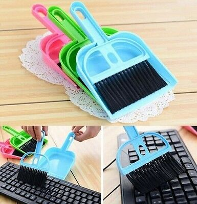 Home Mini Desktop Computer Cleaner Brush Keyboard Brush Dustpan ~Random~ 1pc :)