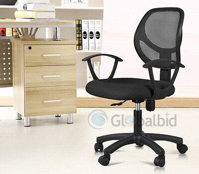 New Ergonomic Mid-back Mesh Swivel Computer Office Desk Task Chair Black
