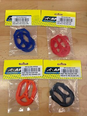 New Apico Pro Bite Footpeg Replacement Silicon Inserts Mx Motocross