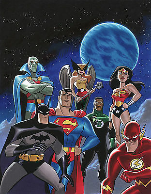 Justice League Giant Poster - A0 A1 A2 A3 A4 Sizes