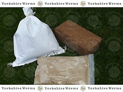 Wormery Starter Pack - 1Kg Worms + 250g Worm Feed + Coir Bedding + Lime
