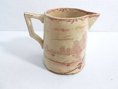 Antique Early Windsor SF & CO Transferware Pottery Pitcher Nice Scene