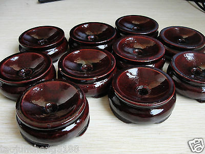 4Pcs Patina Wood tower Stand pedestal Holding CRYSTAL Sphere