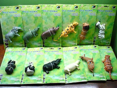 Large Stretchable Wild Animals Box of 12 Different Looks & Feels Alive