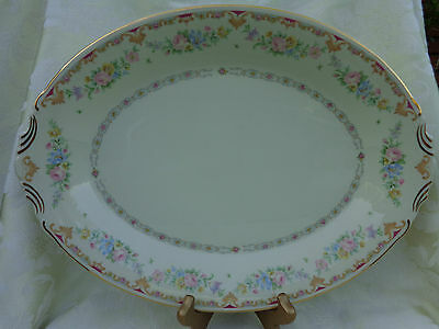 "SYRACUSE MARLENE OLD IVORY OVAL VEGETABLE BOWL,14"" X 10""3/8 X 1.5"". MADE IN USA"