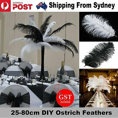 5/10X 25-80cm Ostrich Feather DIY Crafts Feathers Wedding Party Decoration Event