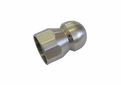 """Pressure Washer Jet Wash Drain Cleaning Nozzle 3/8""""F BSP 1 Forward 3 Rear 045"""