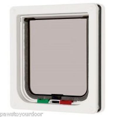 Pet mate 4 way locking cat flap white catflap pet door 309W