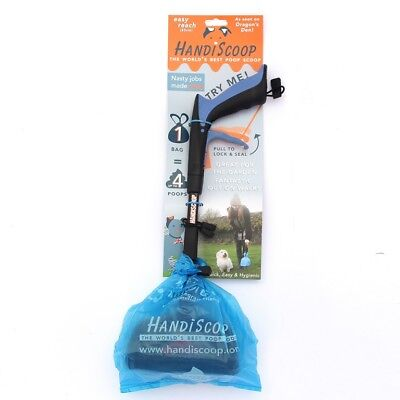 Handle Handiscoop grabber pick up poop scoop, pooper scooper for dog cat waste