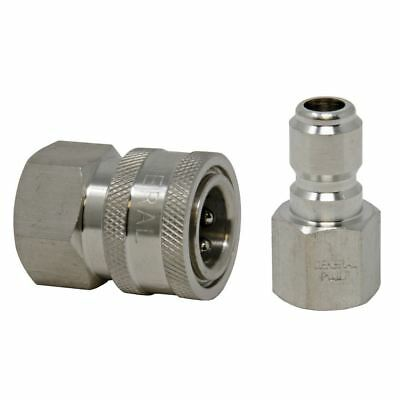"""3/8"""" 5000 PSI Stainless Steel Quick Connect Fittings (1 Plug and 1 Socket)"""