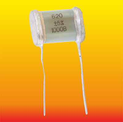620 pF 1000 V 5 % LOT OF 2 RUSSIAN MILITARY SILVER-MICA CAPACITORS SGM-3 СГМ-3