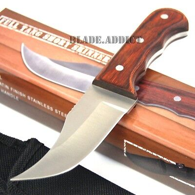 "6.25"" FULL TANG WOOD SKINNER HUNTING KNIFE fishing survival skinning FIXED BLADE"