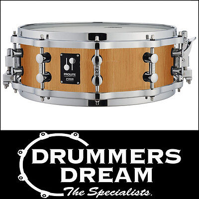 """Sonor Prolite Maple Satin Gloss Natural 14"""" x 6"""" Snare Drum With DIE CAST HOOPS"""