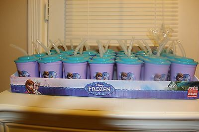 Disney Frozen Birthday Party Favor Goody Bag Treat Cup With Straw!!!