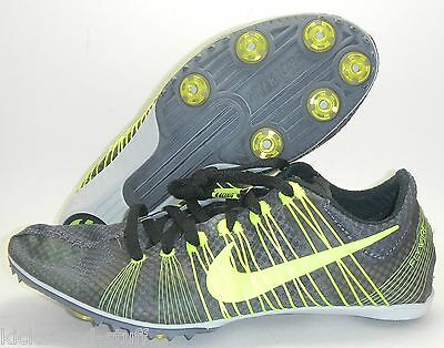 NEW NIKE ZOOM VICTORY 2 TRACK & FIELD SHOES SPIKES 5 BLACK VOLT DARK GREY 6.5