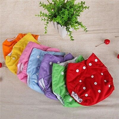 New Button Baby Girl Boy Pocket Colth Diaper 7 Colors Supply