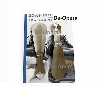 2 Shoe Horns Boots Heavy Metal Steel 16Cm Mobility Aid Set Slide In Shoespooner