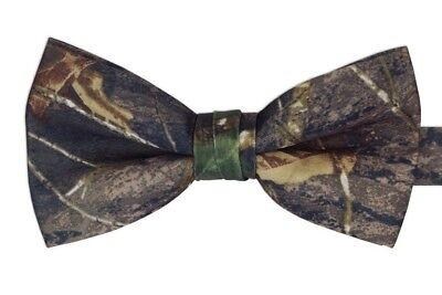 NEW Mens Mossy Oak Camo Camouflage PreTied banded Bow tie FREE SHIPPING