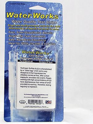 Hydrogen Sulfide Test Kit for Water, 0 - 2ppm, 30 Tests, Great for Well Water