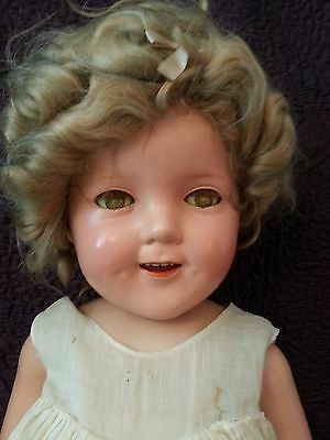 """Vintage 1930s 25"""" Shirley Temple Doll by Ideal"""