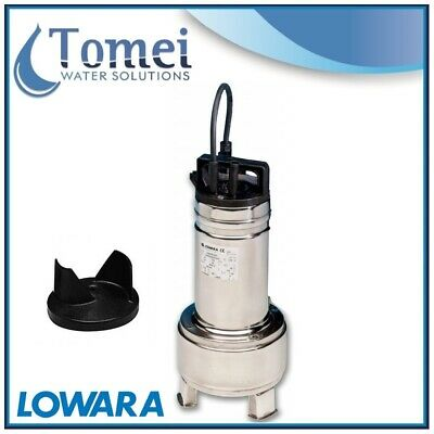 Pompe relevage eaux usees submersible DOMO7T 0,55kW Triphase 400 Bicanale Lowara