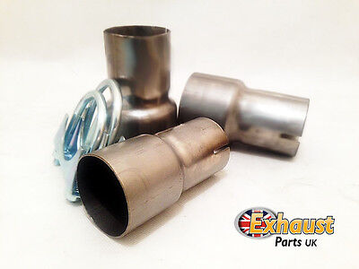 """2"""" 50.8 mm Clamp On Exhaust Pipe Connector Sleeve Link Joiner Including Clamps"""