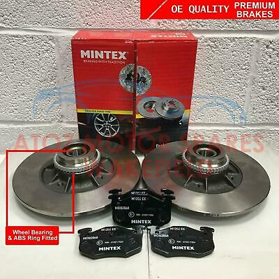 For Clio Sport Cup 2.0 Rear Mintex Brake Discs With Bearings Abs Ring Brake Pads
