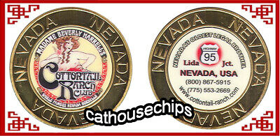 COTTON TAIL RANCH  Nevada Brothel Metal Cathouse Whore House TOKEN