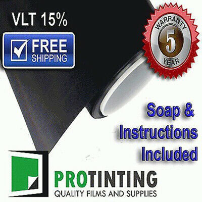 Window Tint Film Black 1525mm X 6m Roll 152cm X 6m 15% VLT Auto House