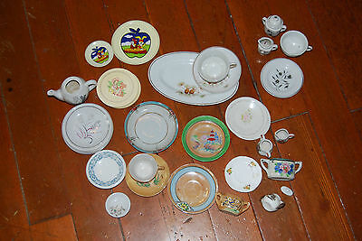 Vintage Mixed Lot of Children's Tea Set Dishes