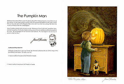 The Pumpkin Man 12 Art Cards (WITH ENVELOPE) Blank By James Lumbers gift for O_O