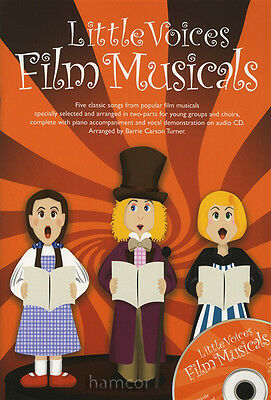 Little Voices Film Musicals Young Group Choir 2-Part Piano Vocal Music Book/CD