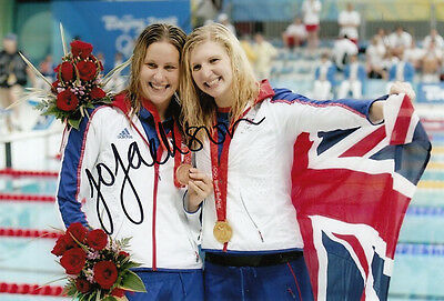 Joanne Jackson Hand Signed Great Britain 6X4 Photo Beijing 2008.