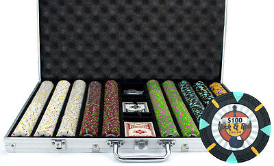 New 1000 Rock & Roll 13.5g Clay Poker Chips Set with Aluminum Case - Pick Chips!