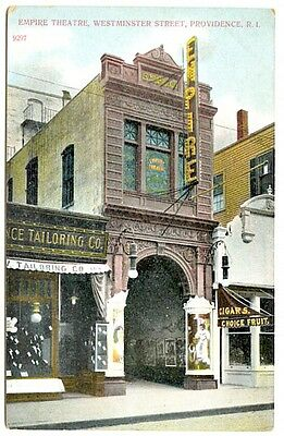 Providence RI Empire Theatre Posters Tailors Cigars Choice Fruit Signs Postcard