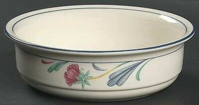 """Lenox POPPIES on BLUE 6-1/4"""" Soup/Cereal/Salad Bowl HTF Chinastone Excellent"""