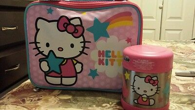 Thermos Hello Kitty Lunch Box Bag  & Funtainer food jar NEW