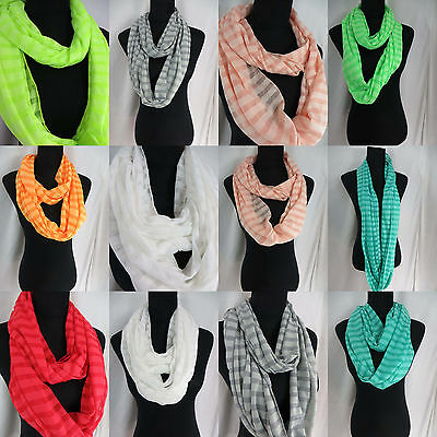 US SELLER-lot of 6 wholesale Jersy material strips infinity scarf eternity wrap