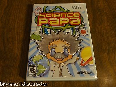 Science Papa Nintendo Wii New Factory Sealed Complete Rare Video Game